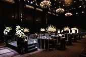 인테리어, 결혼, 결혼식장, 조명 (발광), 결혼식, 한국 (동아시아), 꽃, 테이블, 의자 (좌석)