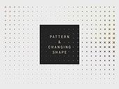백그라운드, 패턴, 도형, 변화