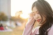 라이프스타일, 한국인, 여성 (성별), 한강공원 (서울), 휴식, 휴식 (정지활동), 행복, 행복 (컨셉)