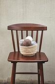 사진, 계절, 가을, 사람없음, 의자 (좌석), 앞모습 (카메라앵글), 털실, 바구니