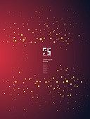 일러스트, 벡터 (일러스트), 물방울무늬 (반점), 그라데이션, 금색 (색상), 프레임, 레이아웃, 책표지, 포스터, 꿈같은 (컨셉), 패턴