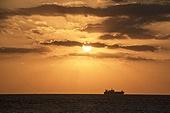 사진, 일몰, 바다, 태양, 일몰 (땅거미)