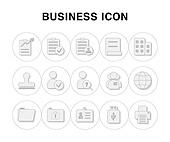 아이콘, 라인아이콘, 픽토그램, 세계, 지구, 신분증, 비즈니스