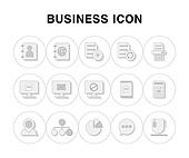 아이콘, 라인아이콘, 픽토그램, 그래프, 도형, 비즈니스