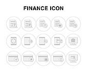 아이콘, 라인아이콘, 픽토그램, 신용카드, 자물쇠, 은행