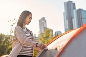라이프스타일, 소풍 (아웃도어), 소풍, 여유로운주말, 텐트, 캠핑, 한국인
