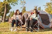 라이프스타일, 공원, 한강공원 (서울), 소풍 (아웃도어), 소풍, 여유로운주말, 텐트, 캠핑, 행복, 한국인