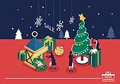 벡터 (일러스트), 쇼핑 (상업활동), 상업이벤트 (사건), 크리스마스 (국경일), 얼음결정 (얼음), 크리스마스트리 (크리스마스데코레이션), 선물 (인조물건), 여성 (성별), 온라인쇼핑