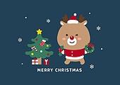 연례행사 (사건), 상업이벤트 (사건), 크리스마스 (국경일), 캐릭터, 루돌프, 크리스마스트리 (크리스마스데코레이션)