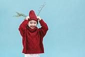 어린이 (나이), 겨울, 크리스마스 (국경일), 루돌프, 뿔