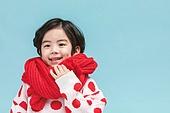 어린이 (나이), 겨울, 소년, 목도리, 뜨거움 (컨셉), 미소, 밝은표정
