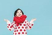 어린이 (나이), 겨울, 소년, 목도리, 뜨거움 (컨셉), 미소, 밝은표정, 눈 (얼어있는물)