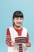어린이 (나이), 겨울, 소녀, 케이크, 생일, 파티