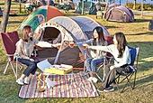 라이프스타일, 한국인, 대학생, 한강 (강), 한강공원 (서울), 공원, 휴식, 소풍 (아웃도어), 소풍, 휴식 (정지활동), 즐거움 (컨셉), 행복, 친구, 휴가 (주제), 캠핑, 맥주, 술 (음료), 건배, 배달음식, 배고픔 (물체묘사)