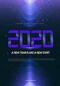 새해 (홀리데이), 포스터, 2020년, 타이포그래피 (문자), 연례행사 (사건)