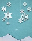 종이 (재료), 페이퍼아트, 눈 (얼어있는물), 겨울, 장난감모빌 (장난감), 얼음결정 (얼음)