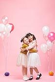 어린이 (나이), 분홍 (색상), 파티, 생일, 소녀, 티아라