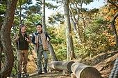 가을, 자연 (주제), 남성, 하이킹 (아웃도어), 여행, 산림욕, 걷기 (물리적활동), 미소