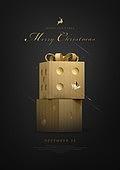 그래픽이미지, 상업이벤트 (사건), 이벤트페이지, 크리스마스 (국경일), 선물 (인조물건), 금색 (색상), 크리스마스트리