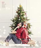 그래픽이미지, 상업이벤트 (사건), 이벤트페이지, 크리스마스 (국경일), 겨울, 선물 (인조물건), 눈 (얼어있는물), 여성, 포스터, 파티, 크리스마스트리
