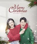 그래픽이미지, 상업이벤트 (사건), 이벤트페이지, 크리스마스 (국경일), 겨울, 선물 (인조물건), 눈 (얼어있는물), 커플, 포스터
