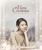 그래픽이미지, 상업이벤트 (사건), 이벤트페이지, 크리스마스 (국경일), 겨울, 선물 (인조물건), 눈 (얼어있는물), 여성, 포스터