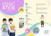 그래픽이미지, 편집디자인, 브로슈어, 광고, 전단지, 브로슈어 (템플릿), 교육 (주제), 학교건물 (교육시설), 학원, 학생, 공부 (움직이는활동), 아이디어, 학습지
