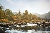 가을, 풍경 (컨셉), 시냇물 (유수), 단풍철 (가을)