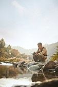 가을, 강, 낚시 (아웃도어), 어부 (역할)