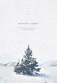 백그라운드, 계절, 겨울, 눈 (얼어있는물), 풍경 (컨셉), 설경, 나무