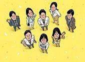 시작, 희망, 화이트칼라 (전문직), 비즈니스, 탑앵글 (카메라앵글), 꽃가루, 인사 (제스처), 팀워크 (협력)