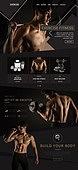 웹템플릿, 메인페이지 (이미지), 레이아웃, 운동, 건강관리 (주제), 건강한생활 (주제), 다이어트, 바디라인 (날씬함)