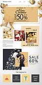 웹템플릿, 이벤트페이지, 상업이벤트 (사건), 쇼핑 (상업활동), 패션, 세일 (사건), 팝업, 크리스마스트리, 겨울