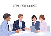 비즈니스, 글로벌, 사무실 (업무현장), 화이트칼라 (전문직), 팀워크, 비즈니스맨, 비즈니스우먼, 여러민족 (인종)