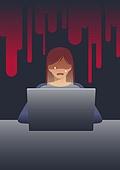악성댓글 (댓글), 악플러, 범죄, 댓글, 노트북컴퓨터 (개인용컴퓨터)