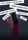악성댓글 (댓글), 악플러, 범죄, 댓글, 스마트폰, 여성 (성별), 뒷모습