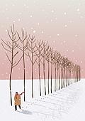 겨울, 카피스페이스 (콤퍼지션), 풍경 (컨셉), 백그라운드, 자연 (주제), 자연풍경, 눈 (얼어있는물), 만년설원 (눈), 나무