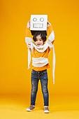 어린이 (나이), 상자, 캐릭터, 미소, 밝은표정