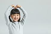 어린이 (나이), 하트 (컨셉심볼), 미소, 밝은표정