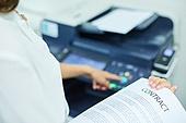 한국인, 사무실, 비즈니스, 화이트칼라 (전문직), 서류, 출력 (움직이는활동), 인쇄기, 복사기 (정보장비)