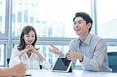 한국인, 사무실, 비즈니스, 비즈니스미팅 (미팅), 회의실 (사무실), 생각 (컨셉), 아이디어, 디지털태블릿 (개인용컴퓨터), 프리젠테이션 (연설)