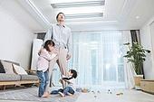 아빠, 자식 (가족), 플레이 (움직이는활동), 피로 (물체묘사), 아들, 딸, 가족, 스트레스
