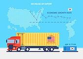 글로벌, 화물운송 (운수), GDP, 비즈니스, 성장, 쇠퇴 (컨셉), 세계지도, 트럭 (육상교통수단)