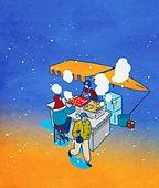 음식, 겨울, 라이프스타일, 군것질 (Food And Drink), 길거리음식, 눈 (얼어있는물), 분식, 구내매점 (간이판매대)