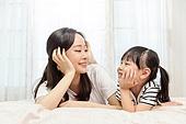 행복, 어린이 (나이), 엄마, 딸, 유치원생