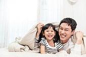 가족, 행복, 즐거움 (컨셉), 기쁨 (컨셉), 아빠, 유치원생, 딸