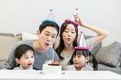 가족, 행복, 부모, 가족사진, 어린이 (나이), 생일, 생일 (사건)