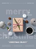 편집디자인, 이벤트페이지, 팝업, 상업이벤트 (사건), 그래픽이미지, 크리스마스 (국경일), 선물 (인조물건), 커피 (뜨거운음료), 크리스마스트리 (크리스마스데코레이션)
