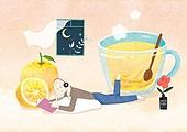 상상력 (컨셉), 동화, 위로, 환상 (컨셉), 회복 (컨셉), 겨울, 차 (뜨거운음료), 뜨거운음료 (무알콜음료), 유자차, 음악