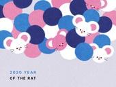 패턴, 백그라운드, 2020년, 부드러움 (컨셉), 쥐띠해 (십이지신)